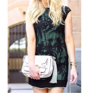 Zara WB Palm Tree Mesh Overlay Dress